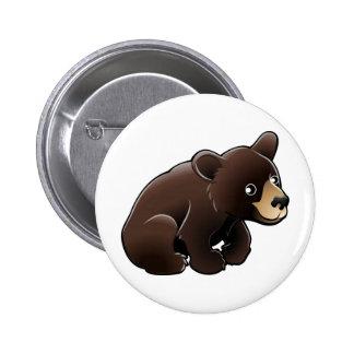 cute American Black Bear Pinback Button