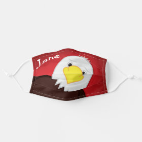 Cute American Eagle USA Customizeable Name Cloth Face Mask