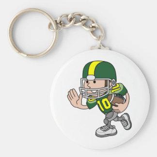 Cute American football player character Key Chain
