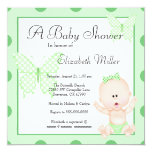 Cute American Girl Baby Shower Invitation
