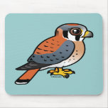 Cute American Kestrel Mouse Pads