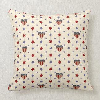 Cute Americana Throw Pillow
