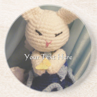 Cute Amigurumi Bunny Rabbit Drink Coaster