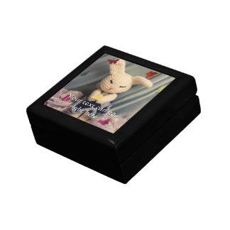 Cute Amigurumi Bunny Rabbit Keepsake Box