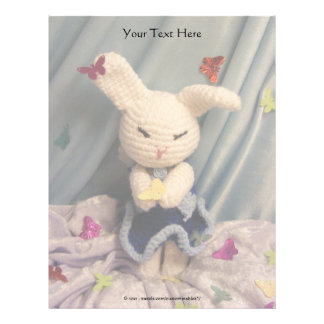 Cute Amigurumi Bunny Rabbit Letterhead