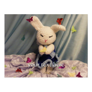 Cute Amigurumi Bunny Rabbit Postcard