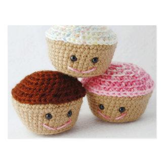 Cute Amigurumi Cupcakes Postcard