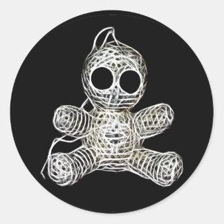 Cute Amigurumi Voodoo Doll Classic Round Sticker