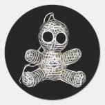 Cute Amigurumi Voodoo Doll Round Sticker