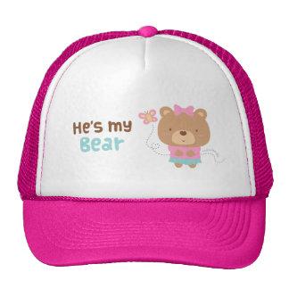 Cute Amusing Couple Female Bear and Butterfly Trucker Hat