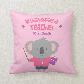 Cute Amusing Pun Koala Bear Teacher Pillow
