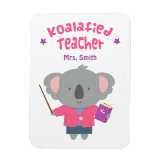 Cute Amusing Pun Koala Bear Teacher Rectangular Photo Magnet