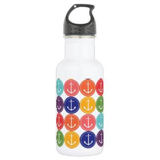 Cute Anchors Pattern Water Bottle