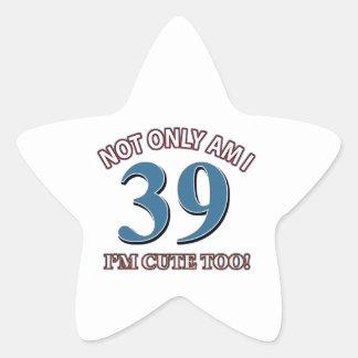 cute and 39 star sticker