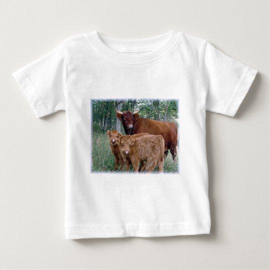 Cute and adorable fluffy fatty Highland calves Baby T-Shirt