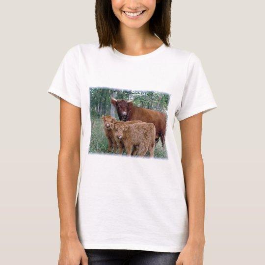 Cute and adorable fluffy fatty Highland calves T-Shirt
