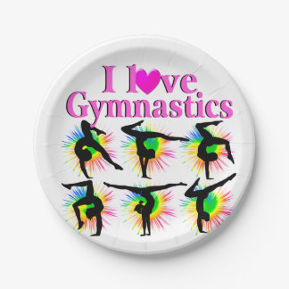 CUTE AND ADORABLE GYMNAST PAPER PLATE