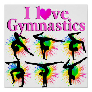 CUTE AND ADORABLE GYMNAST POSTER
