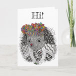 Cute and Adorable Hedgehog Greeting Card
