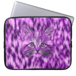 Cute and Adorable Purple Kitten Laptop Computer Sleeve
