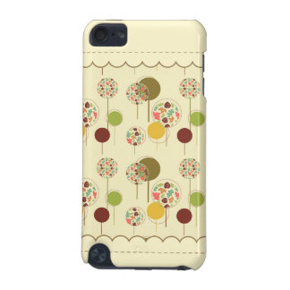Cute and Artsy Maple Leaf Circle Pattern iPod Touch 5G Case