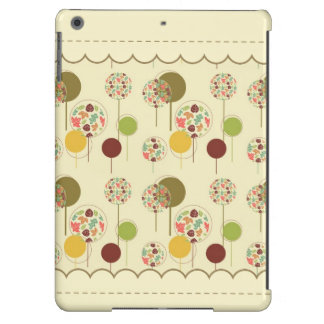 Cute and Artsy Whimsical Maple Leaf Circle Pattern iPad Air Case