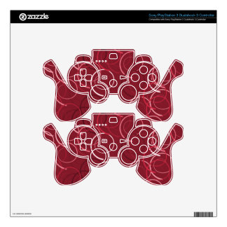 Cute and Beautiful Magenta Brown Ring Pattern PS3 Controller Decal