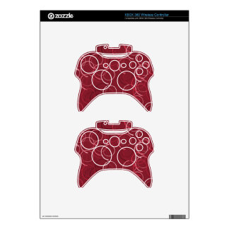 Cute and Beautiful Magenta Brown Ring Pattern Xbox 360 Controller Skin