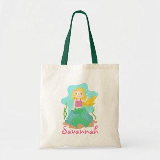 Cute and Beautiful Mermaid, for Girls Budget Tote Bag