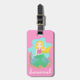 Cute and Beautiful Mermaid, for Girls Travel Bag Tags