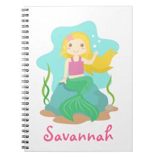 Cute and Beautiful Mermaid, for Girls Notebook