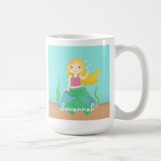 Cute and Beautiful Mermaid for Under the Sea Coffee Mug