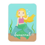 Cute and Beautiful Mermaid for Under the Sea Rectangular Magnet