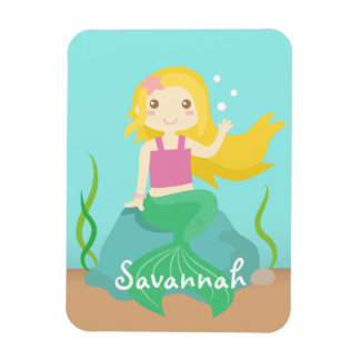 Cute and Beautiful Mermaid for Under the Sea Rectangular Photo Magnet