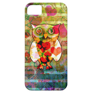 Cute and Colorful Abstract Floral Pattern Owl iPhone SE/5/5s Case