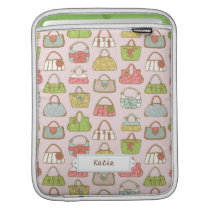Cute and Colorful Bags Illustration Pattern Sleeve For iPads