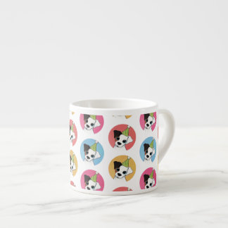 Cute and Colorful Birthday Jack Russell Pattern Espresso Cup