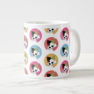 Cute and Colorful Birthday Jack Russell Pattern Large Coffee Mug