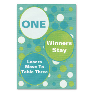 Cute and Colorful Bunco Table Cards #1