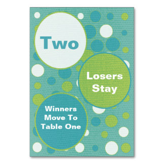 Cute and Colorful Bunco Table Cards #2
