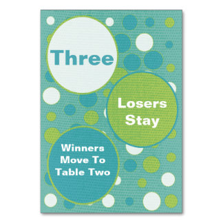 Cute and Colorful Bunco Table Cards #3