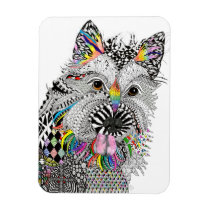 """Cute and Colorful Cairn Terrier Magnet 3""""x4"""""""