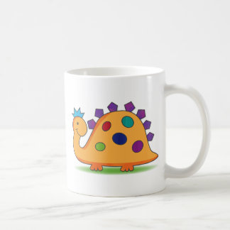 Cute and colorful cartoon spotted dinosaur coffee mug