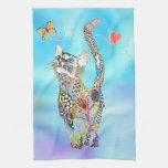 Cute and Colorful Cat Kitchen Towel