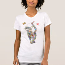 Cute and Colorful Cat T-shirt