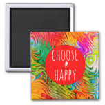 Cute and Colorful Choose Happy Magnet 2""