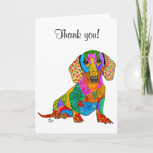 Cute and colorful dachshund greeting card zazzle cute and colorful dachshund greeting card m4hsunfo