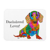 """Cute and Colorful Dachshund Magnet 3"""" x 4"""""""