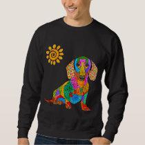 Cute and Colorful Dachshund Sweatshirt
