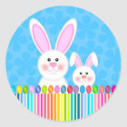 Cute and Colorful Easter Bunny Stickers